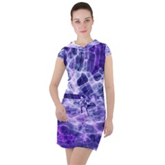 Abstract Space Drawstring Hooded Dress