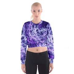 Abstract Space Cropped Sweatshirt