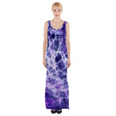 Abstract Space Thigh Split Maxi Dress