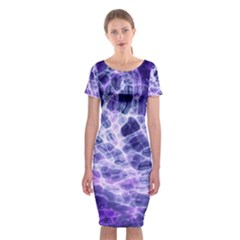 Abstract Space Classic Short Sleeve Midi Dress
