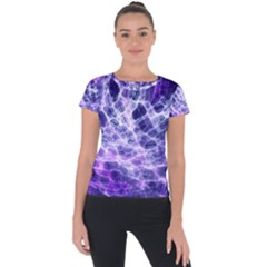 Abstract Space Short Sleeve Sports Top