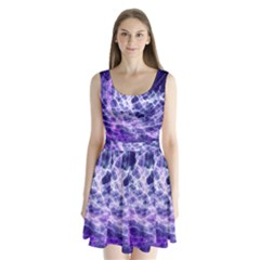 Abstract Space Split Back Mini Dress