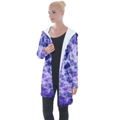 Abstract Space Longline Hooded Cardigan