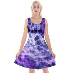Abstract Space Reversible Velvet Sleeveless Dress
