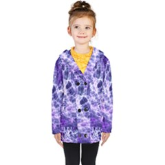 Abstract Space Kids  Double Breasted Button Coat