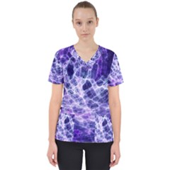 Abstract Space Women s V Neck Scrub Top