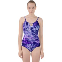 Abstract Space Cut Out Top Tankini Set
