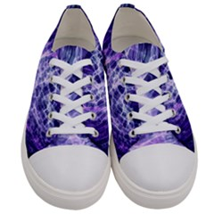 Abstract Space Women s Low Top Canvas Sneakers