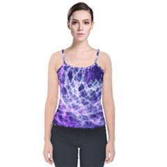 Abstract Space Velvet Spaghetti Strap Top