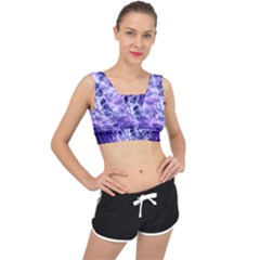 Abstract Space V Back Sports Bra