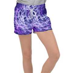 Abstract Space Women s Velour Lounge Shorts