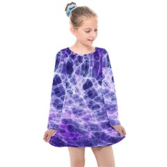 Abstract Space Kids  Long Sleeve Dress