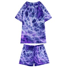 Abstract Space Kids  Swim Tee And Shorts Set