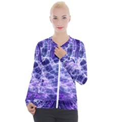 Abstract Space Casual Zip Up Jacket