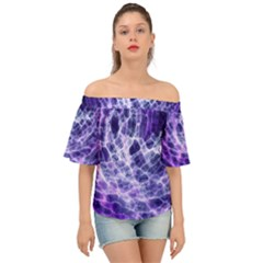 Abstract Space Off Shoulder Short Sleeve Top