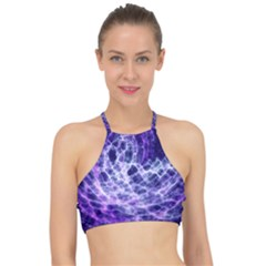 Abstract Space Racer Front Bikini Top