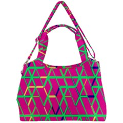 Abstrait Neon Rose Double Compartment Shoulder Bag by kcreatif