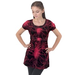 Lumière Rouge Puff Sleeve Tunic Top by kcreatif