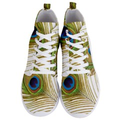 Peacock Feather Plumage Colorful Men s Lightweight High Top Sneakers