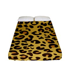 Cheetah Pattern Fitted Sheet (full/ Double Size) by goljakoff