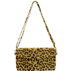 Cheetah Pattern Removable Strap Clutch Bag