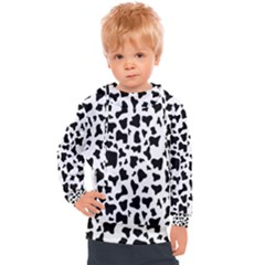 Dalmatian Pattern Kids  Hooded Pullover by goljakoff