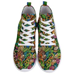 Indian Doodle Pattern Men s Lightweight High Top Sneakers