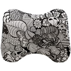Floral Doodle Pattern Head Support Cushion by goljakoff