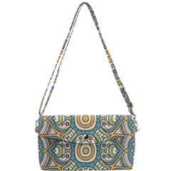 Ethnic Mandala Removable Strap Clutch Bag