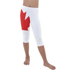 Canadian Flag Kids  Lightweight Velour Capri Leggings  by goljakoff