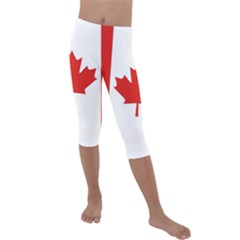 Flag Of Canada Kids  Lightweight Velour Capri Leggings  by goljakoff