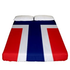 Flag Of Norway Fitted Sheet (king Size) by goljakoff