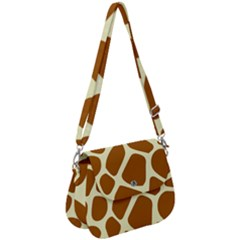 Giraffe Pattern Saddle Handbag by goljakoff