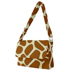Giraffe Pattern Full Print Messenger Bag (l) by goljakoff