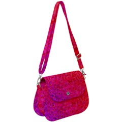 Rose Gradient Pearls Saddle Handbag