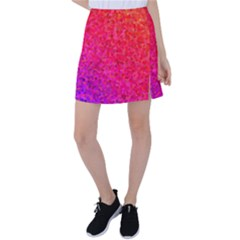 Rose Gradient Pearls Tennis Skirt