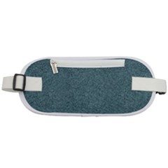 Blue Denim Fabric Pattern Rounded Waist Pouch