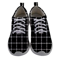 Pattern Carreaux Blanc/noir Women Athletic Shoes by kcreatif