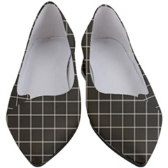 Black Plaid Pattern Women s Block Heels  by goljakoff