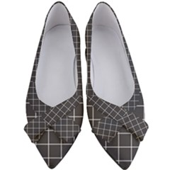 Black Plaid Pattern Women s Bow Heels by goljakoff