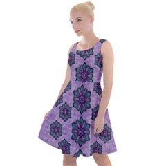 A Gift With Flowers Stars And Bubble Wrap Knee Length Skater Dress