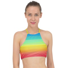 Abstract Rainbow Racer Front Bikini Top