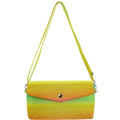 Abstract Rainbow Removable Strap Clutch Bag