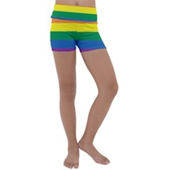 Rainbow Kids  Lightweight Velour Yoga Shorts