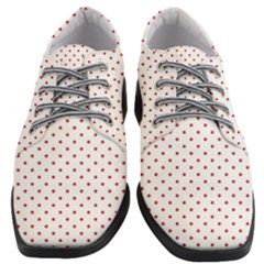 Red Polka Dot Women Heeled Oxford Shoes
