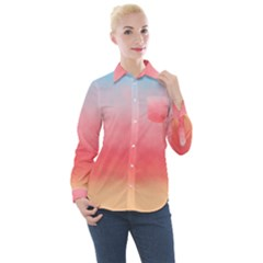 Summer Sky Women s Long Sleeve Pocket Shirt