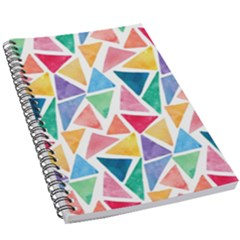 Rainbow Triangles 5 5  X 8 5  Notebook by goljakoff