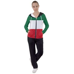 Flag Patriote Quebec Patriot Red Green White Modern French Canadian Separatism Black Background Women s Tracksuit