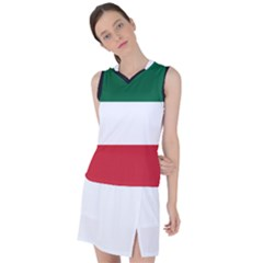 Flag Patriote Quebec Patriot Red Green White Modern French Canadian Separatism Black Background Women s Sleeveless Mesh Sports Top by Quebec