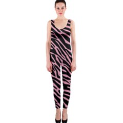 Pink Zebra One Piece Catsuit